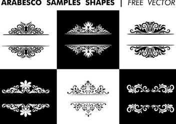 Arabesco Sample Shapes Free Vector - Free vector #345743