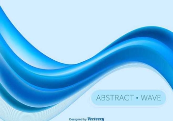 Blue abstract wave - Free vector #345783