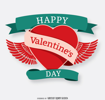 Happy Valentine's heart - vector gratuit #345803