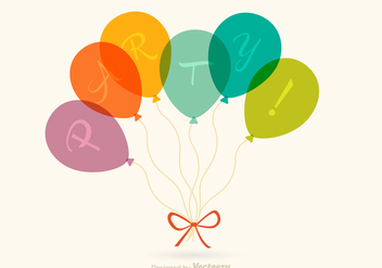 Free Party Balloons Vector - vector gratuit #345933