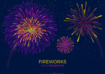 Free Fireworks Vector Background - Free vector #345943