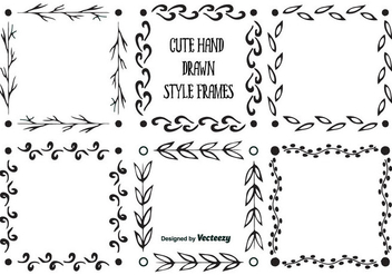 Hand Drawn Style Frames - Free vector #345963