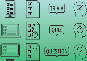 Quiz Icons - vector #346013 gratis