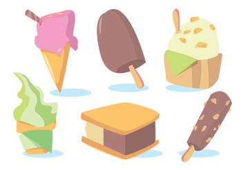 Snow Cone Ice Cream Vector Set - бесплатный vector #346073