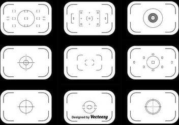 Viewfinder Vector Set - vector gratuit #346083