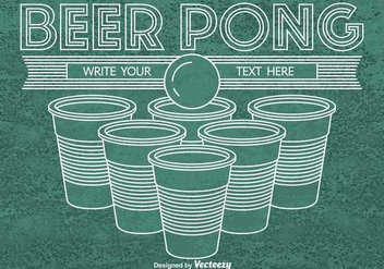 Beer pong background - vector gratuit #346103