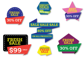 Promotional Web Banners - Free vector #346143