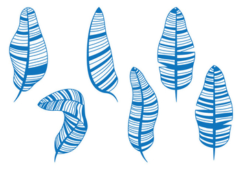 Banana Leaf Illustration - Free vector #346303