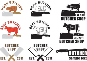 Butcher And Cleaver Logos - Kostenloses vector #346333
