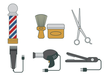 Barber Tools Vector - бесплатный vector #346363