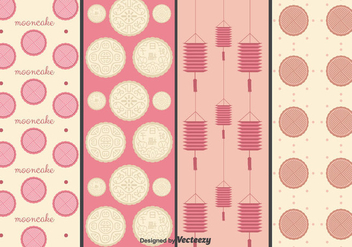 Mooncake Vectors Pattern - Kostenloses vector #346463
