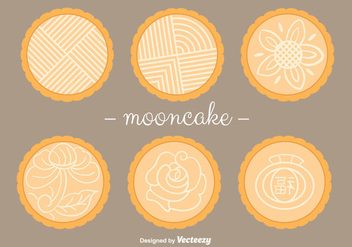 Mooncake Vectors - бесплатный vector #346473