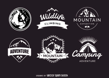 Camping badges - Free vector #346513