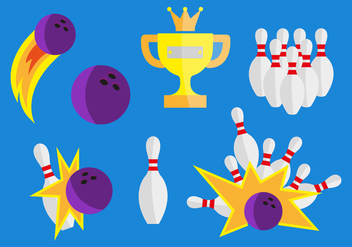 Bowling Vector Illustrations - бесплатный vector #346643