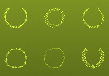 Olive Wreath Vectors - Free vector #346663