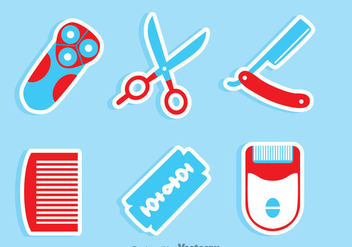 Barber Tools Set - vector #346693 gratis