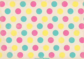 Old Retro Polka Dot Style Background - vector gratuit #346753