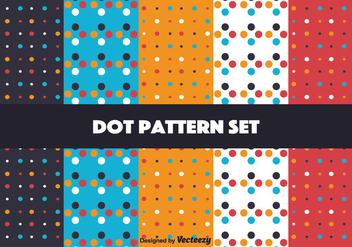 Bright Dot Pattern Set - vector gratuit #346813