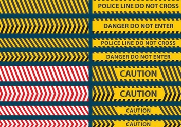Police Line Tape Vectors - Free vector #346823