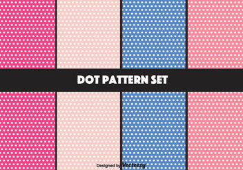 Girly Vector Dot Pattern Set - Kostenloses vector #346843