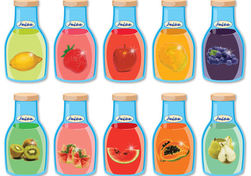 Fruits Juices Vectors - vector gratuit #346853
