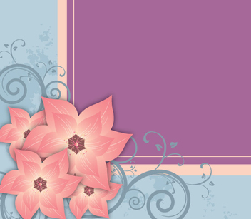 Floral Card Decoration - vector gratuit #346863