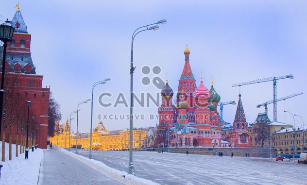 Cathedral of Saint Basil the Blessed on winter Red Square, Moscow - бесплатный image #346963