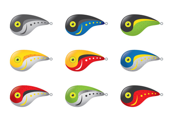 Rapala Crawdad Fishing Lure Vectors - Free vector #347033