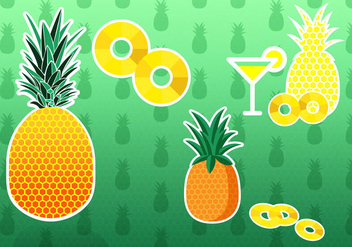 Pineapple Ananas Vectors - бесплатный vector #347113