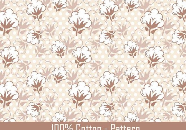Vector Cotton Plant Pattern - Free vector #347123