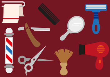 Barber Tools Vectorial Illustrations - Free vector #347133