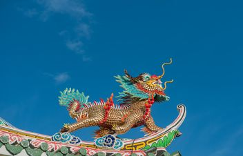 Dragon stucco reliefs in Chinese style - image gratuit #347273