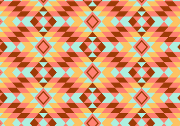 Geometric Kilim Pattern Background - vector gratuit #347423