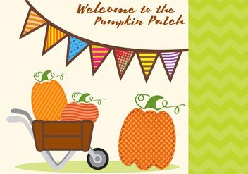 Pumpkin Patch Invitation Vector - Free vector #347473