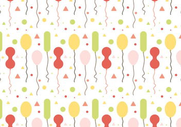 Free Balloons Pattern Vector #1 - Free vector #347483