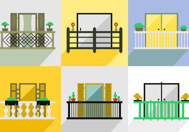 Free balcony vector pack free vector download 347493 for Balcony vector