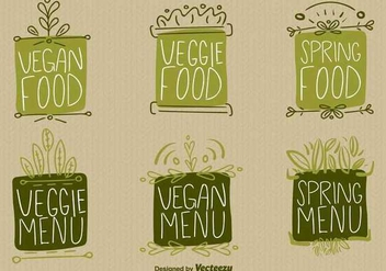 Vegan Food Sign Vectors - vector gratuit #347503
