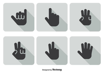 Hand Gestures Icon Set - Free vector #347513