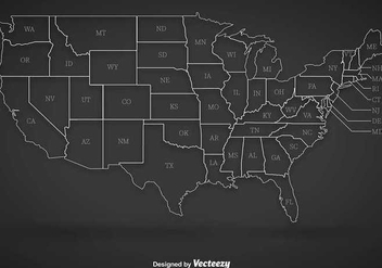 Vector United State Outlines - vector gratuit #347593