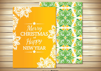 Beautiful Christmas Card - vector gratuit #347613