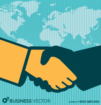 Business deal hand shake - Free vector #347683