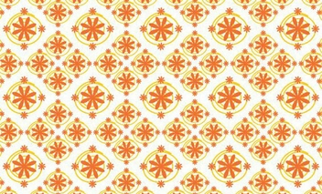 Vintage Orange Floral Seamless Pattern - бесплатный vector #347843