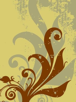 Grunge Plant Swirls Background - vector gratuit #347883