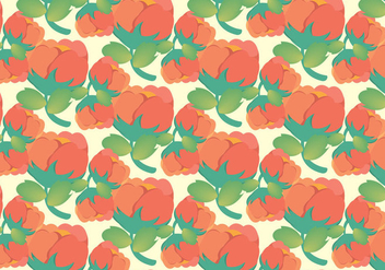Free Pastel Cotton Plant Pattern Vector - Kostenloses vector #348053