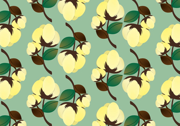 Free Cotton Plant Pattern Vector - Free vector #348093