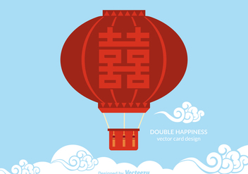 Free Double Happiness Balloon Vector - Kostenloses vector #348123