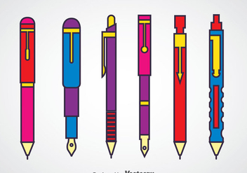 Pen And Mechanic Pencil Sets - vector gratuit #348223