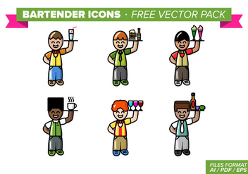 Bartender Icons Free Vector Pack - vector gratuit #348233