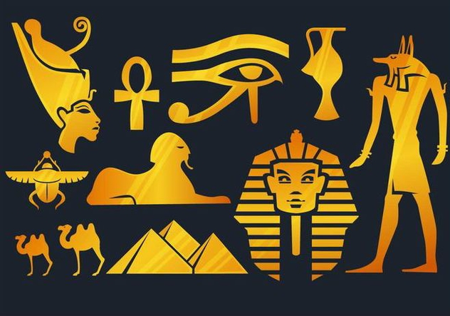 Egypt Elements - vector gratuit #348263