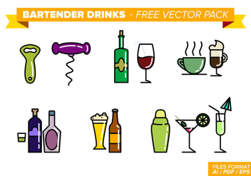 Bartender Drinks Free Vector Pack - Free vector #348273